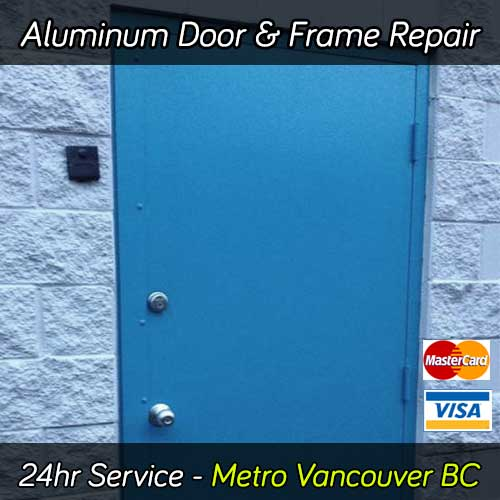 Aluminum door repair services in Vancouver BC area